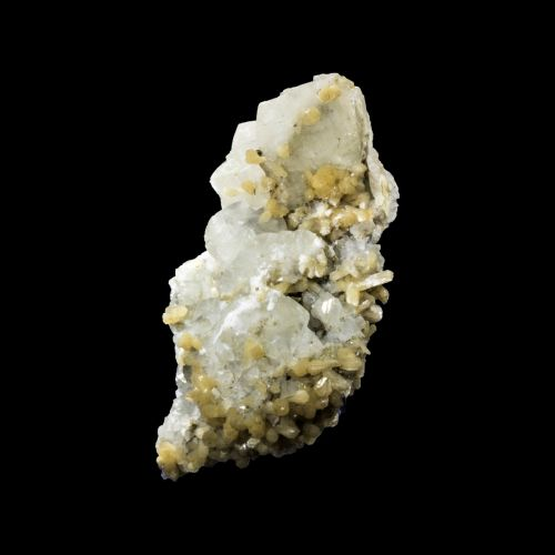 Calcite with Yellow Stilbite