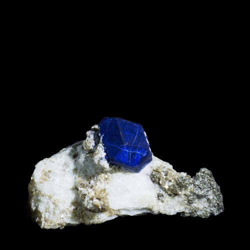 Lazurite with Pyrite Ladjuar Madan (Lapis Lazuli Deposit) Afghanistan