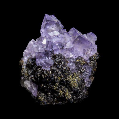 Fluorite and Chalcopyrite on Sphalerite Denton Mine USA